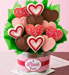 I Love You Cookie Flower Gift Pail