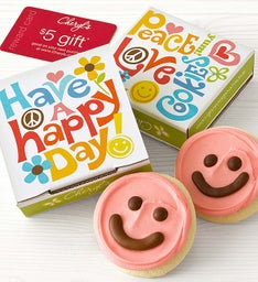 Happy Day Cookie & Gift Card - Pink