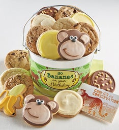 Go Bananas on Your Birthday Cookie Pail