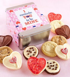I Mustache You Gift Tin - Create Your Own - 12 Cookies