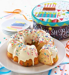 Miss Grace Confetti Birthday Cake with Gift Tin