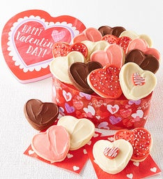 Heart Shaped Valentine Cut-out Gift Tin