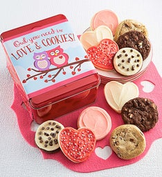 Owl You Need is Love and Cookies Tin