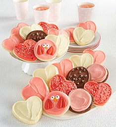Valentines Day Premier Buttercream Frosted Cookies