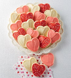 Buttercream Frosted Classic Valentines Day Cut-out Cookies