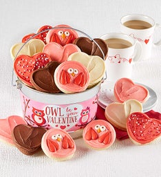 Owl Be Your Valentine Cookie Pail