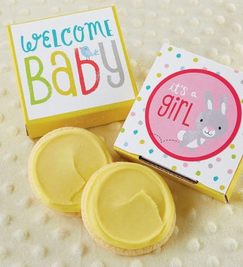 G is for Baby Girl Cookie Card