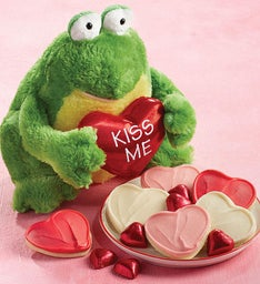 Cuddly Valentine Frog with Treats