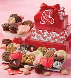 Valentine's Day Bakery Gift Tower