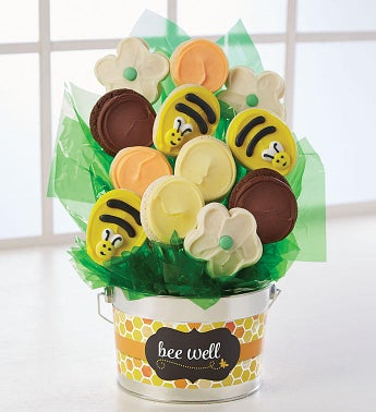 Get Well Cookie Flower Pot