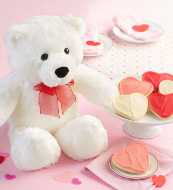 Valentine Bear with Treats