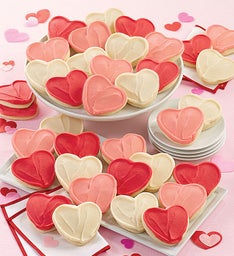 Buttercream Frosted Valentine Cut out Cookies