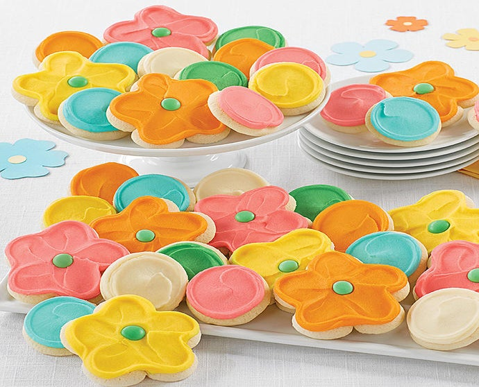 Buttercream Frosted Spring Cut out Cookies