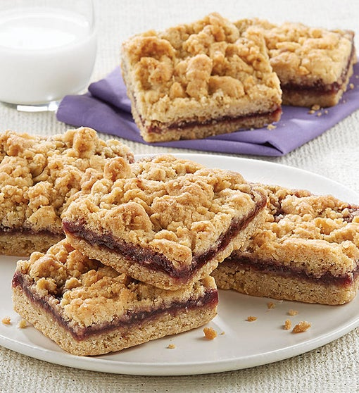 Raspberry Crumb Brownies