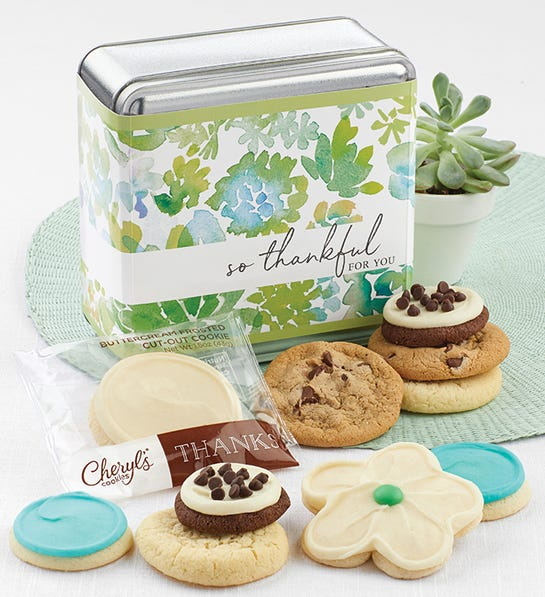 Cheryls So Thankful for You Gift Tin