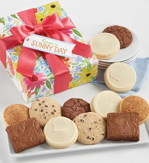 Gluten Free Have a Sunny Day Cookie and Brownie Box