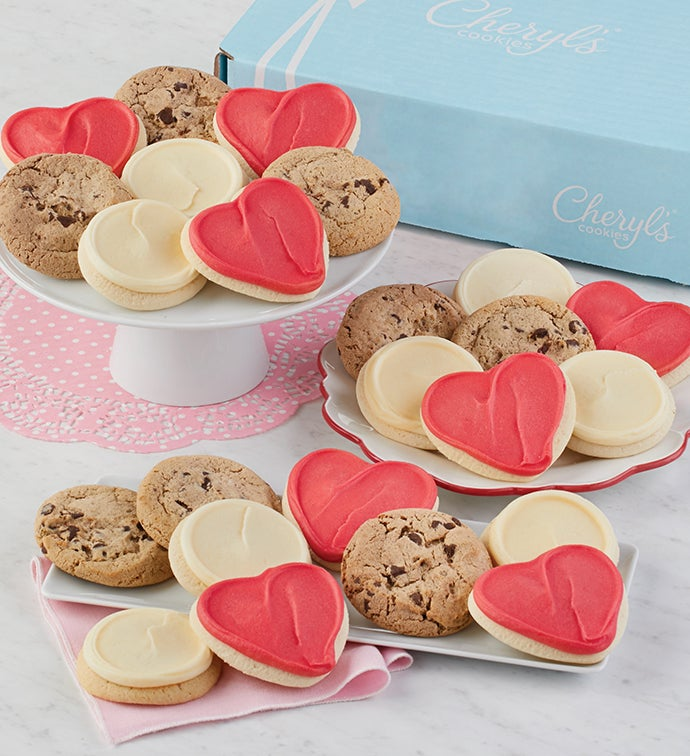Valentine Cookie Bow Gift Box