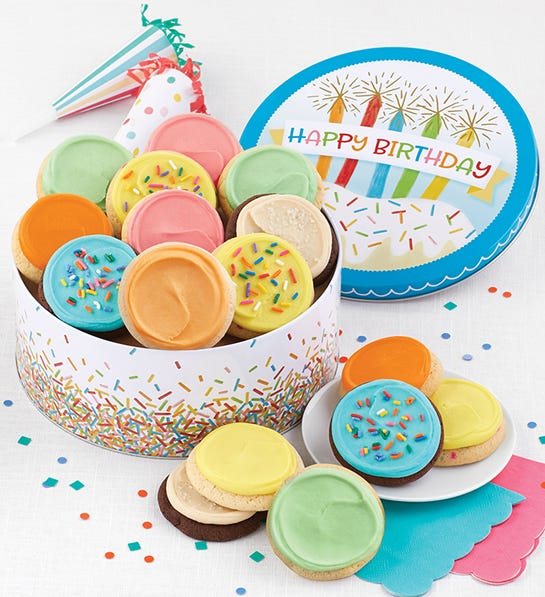 Cheryls Birthday Tin Frosted Cookies