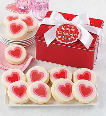Limited Edition Valentine Cookie Gift Tin