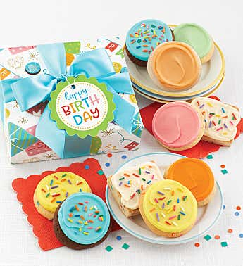 Happy Birthday Cookie and Brownie Gift Box