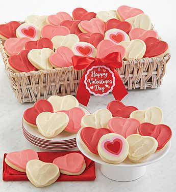 Buttercream Frosted Cut-Out Cookie Gift Basket - Grand