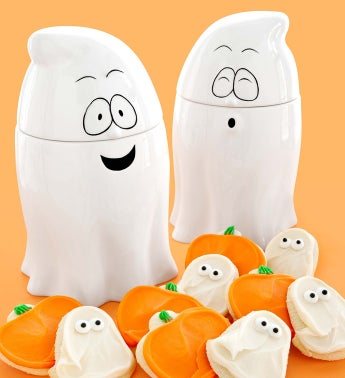 Ghost Cookie Jar Cutout Cookies
