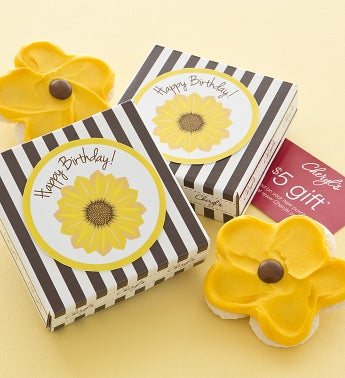 Happy Birthday Sunflower Cookie & Gift Card