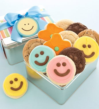 Assorted Happy Faces Gift Tin