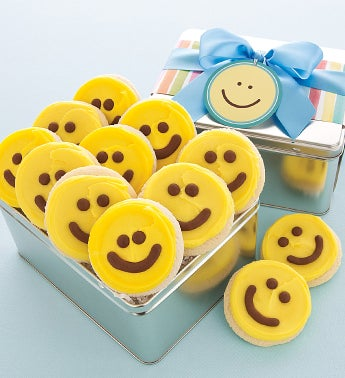 Yellow Happy Faces Gift Tin