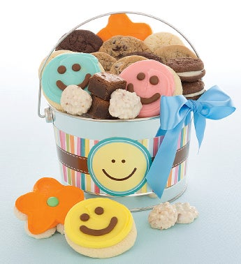 Happy Faces Treats Pail