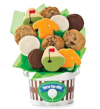 Golf Cookie Flower Pot