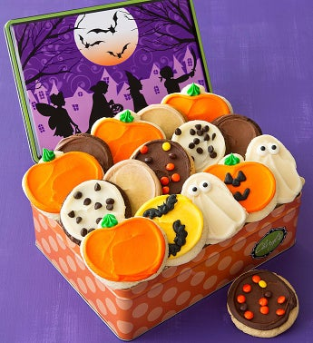 Trick or Treat Tin - 16 Frosted Cookies