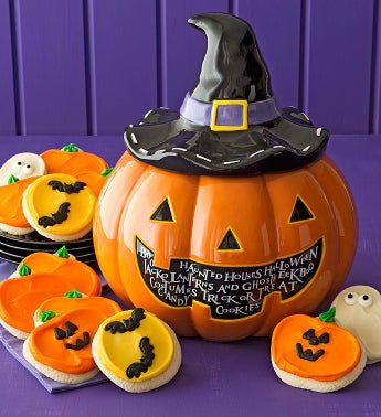 Halloween Cookie Jar - Cutout Cookies