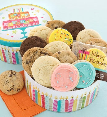 Musical Birthday Tin - 16 Cookies