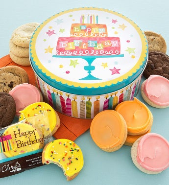 Musical Birthday Tin - 16 Cookies Create Your Own