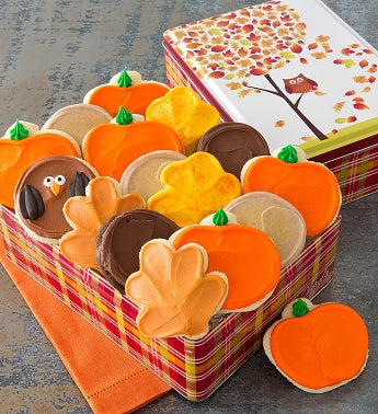 Autumn Tin - 16 Frosted Cookies