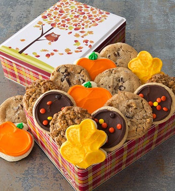 Autumn Gift Tin - 16 Create Your Own Cookies