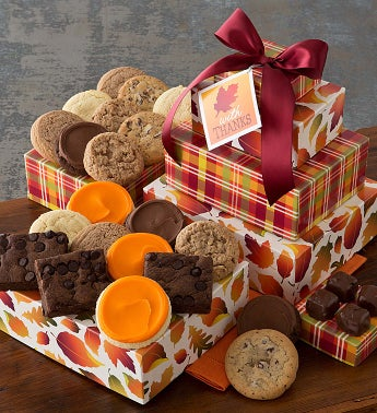 Sugar Free Autumn Gift Tower - Thank You