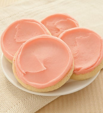Buttercream Frosted Strawberry Sugar Cookies