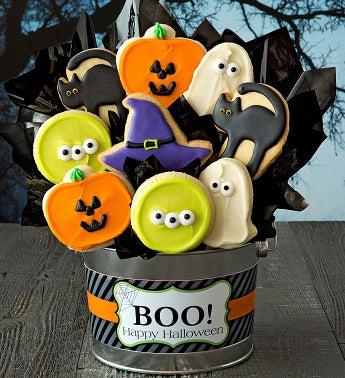 Halloween Cookie Flower Pot