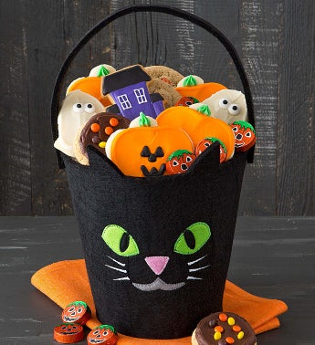 Halloween Trick or Treat Tote - Black Cat