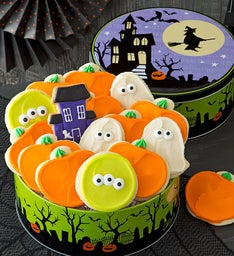 Halloween Haunted House Gift Tin - Cutout Cookies