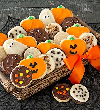 Buttercream Frosted Halloween Cookie Basket