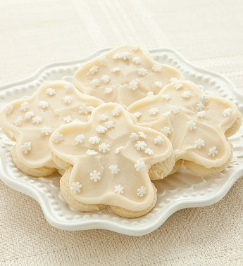 Buttercream Frosted Snowflake Cookies