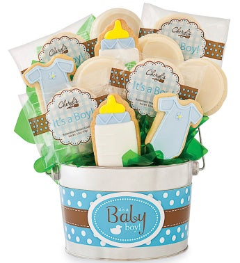 Baby Boy Cookie Flower Pot
