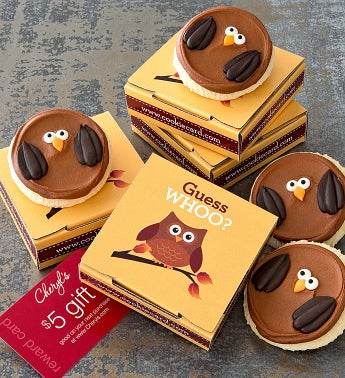 Fall Owl Cookie & Gift Card