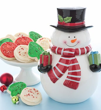 Collectors Edition Snowman Cookie Jar - Cutouts