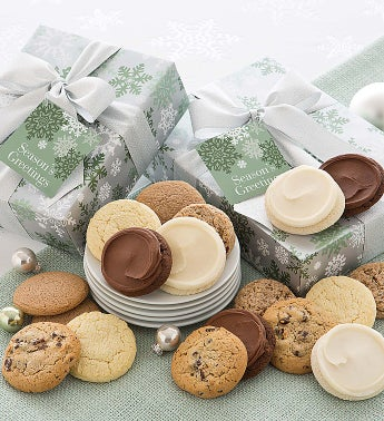 Elegant Sugar Free Holiday Cookie Gift Boxes