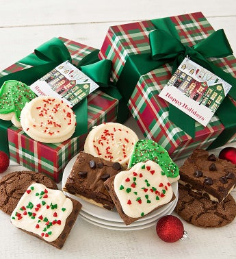Buttercream Frosted Holiday Cookies and Brownies