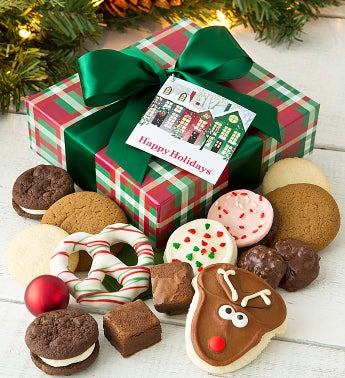 Warm Holiday Wishes Treats Gift Box